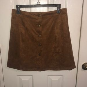 MAKE OFFERS Super Cute Brown Suede Skirt